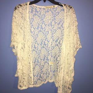 size small lace cardigan